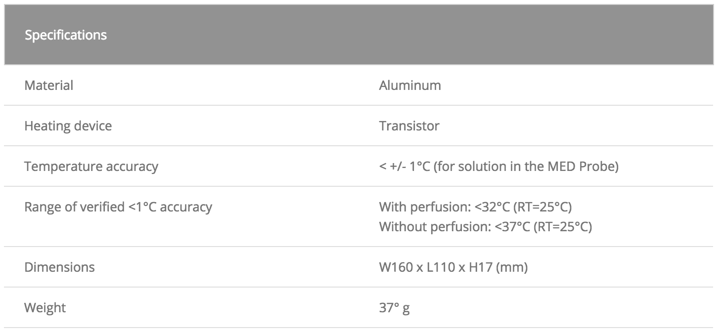 MED-CPB01-Specifications